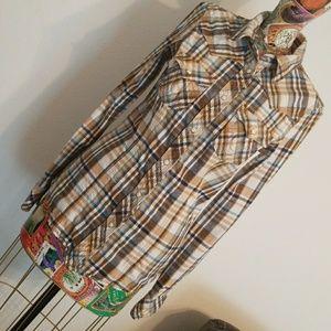 True Religion flannel /western top